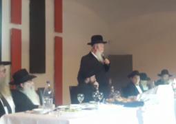 ברכת הרב גרוסמן בבר מצווה לבנו של המשפיע הרב מ״מ דוברוסקין במגדל העמק
