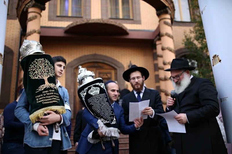 בעיר קרסנדר שברוסיה חגגו בהכנסת ספר תורה • תיעוד