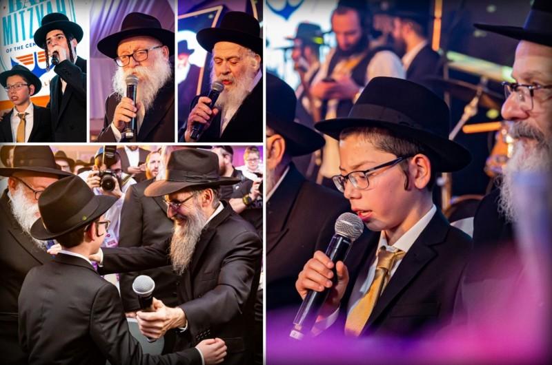 מוישי הולצברג חגג בר מצווה עם מאות מוזמנים וסוללת זמרים