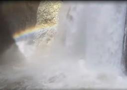 גשמי ברכה: זרימת המים במפל התנור • צפו (צילום: רמזי בדראן, רשות הטבע והגנים)