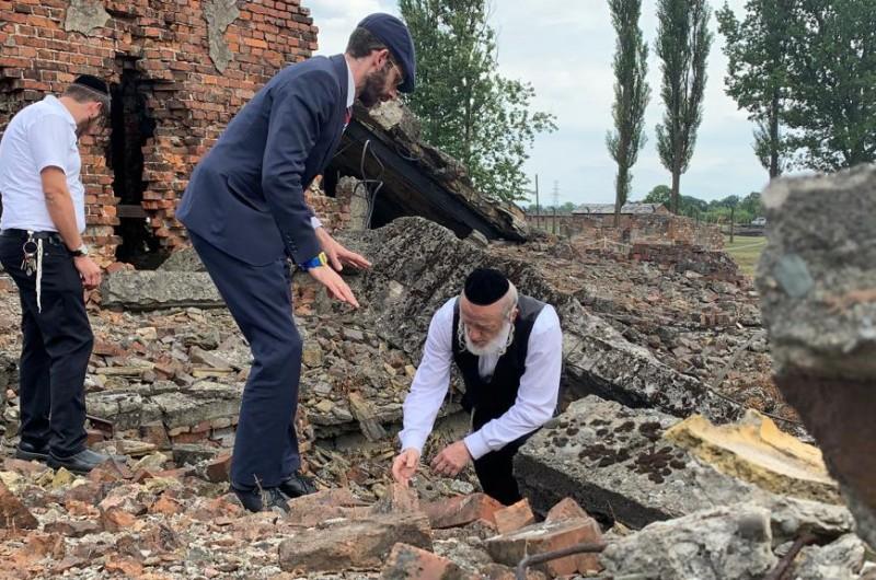מזעזע: עצמות יהודים שנרצחו באושוויץ צפות אחרי הגשם