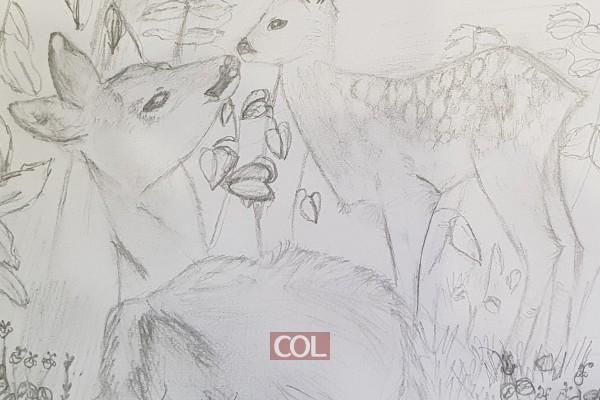 אם ובנה האיילים