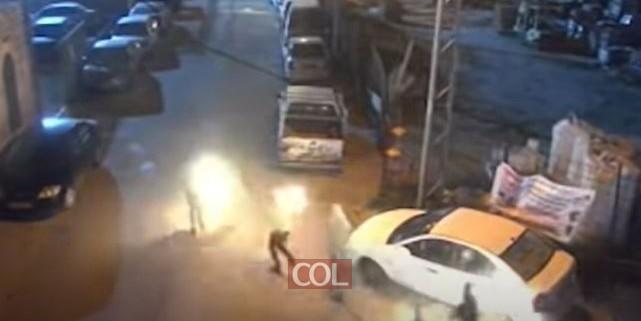 צפו: מסתערבים עוצרים מחבלים שמשליכים בקת''בים על בתי יהודים בשכונת מעלה הזיתים