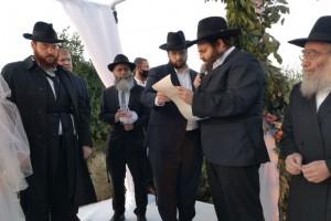הרב אלכסנדר ברדה מחתן בנו בירושלים, וצופה ממוסקבה
