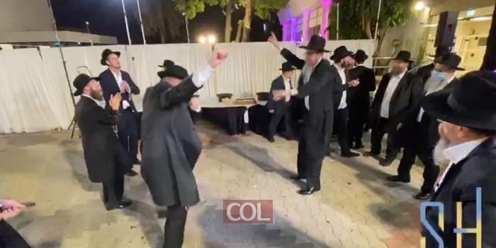 ריקודי שמחה בחתונת הת' צבי בירנאק מלונדון עב