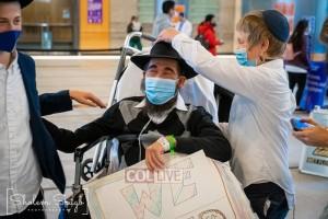 שמחה עצומה: הרב יודי דוקס חוזר הביתה למשפחתו