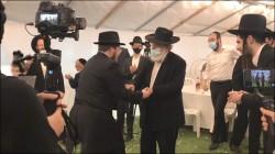 בין המשתתפים בחתונת יוסף אריה שולמן בנו של עורך חדשות משפחה אליעזר שולמן נצפה הגה