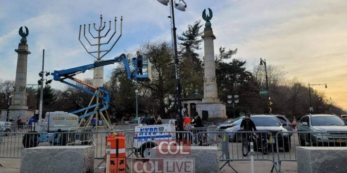 המנורה הגדולה בברוקלין: חג חנוכה תשפ