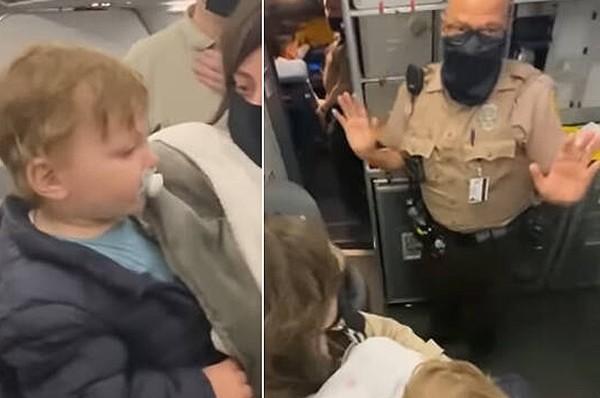 דרמה: הורים לתינוק שלא עטה מסיכה - נזרקו מהמטוס
