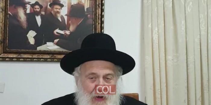 הרב ירוסלבסקי: יש שתי מפלגות שראוי להצביע להם - אגו