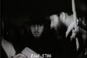 בוידאו נדיר המתפרסם לראשונה: הרבי מסדר קידושין בשנת תש