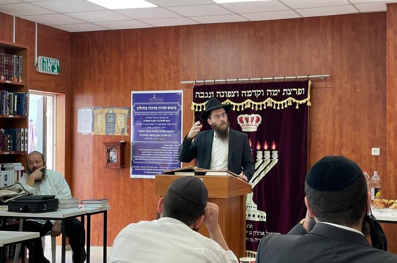 במעמד חשובי הרבנים בחולון: כינוס תורה כהוראת הרבי