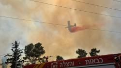 גל ההצתות: שריפת חורש משתוללת סמוך לביתר, אזור התעשייה ואזור תחנת הדלק פונו מאזרחים עקב סכנת השריפה (צילום: כבאות והצלה יו
