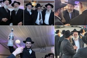 רבנים ושלוחים בחתונת בן השליח ובתו של הרב אשכנזי