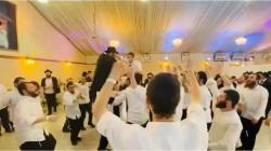 המנון 'גן ישראל' בריקודי השמחה בחתונת פרוס-מארק באוהל האירועים בכפר חב