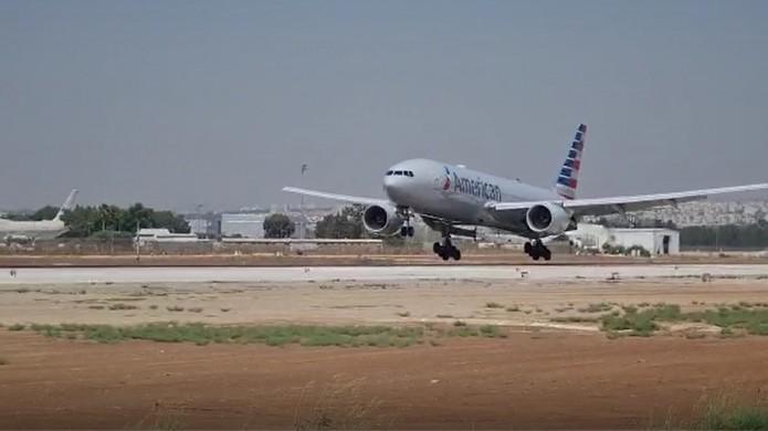 מטוס תקול נחת בנתב