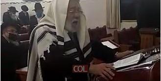הרב אברהם רוחמקין עובר לפני התיבה במוצ