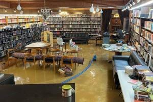 ספריית 'לוי יצחק' הוצפה במים והנזק מוערך ב-150 אלף דולר